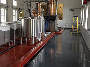 Epoxy floor installed at distillery