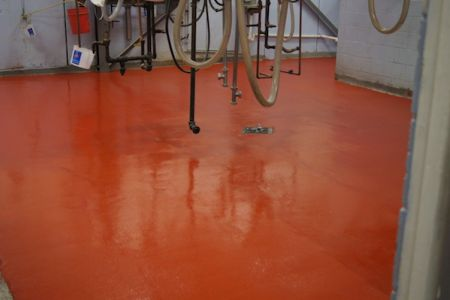 Food-grade floor coating - FDA approved Polycrete