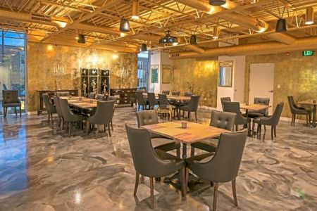 Decorative restaurant flooring
