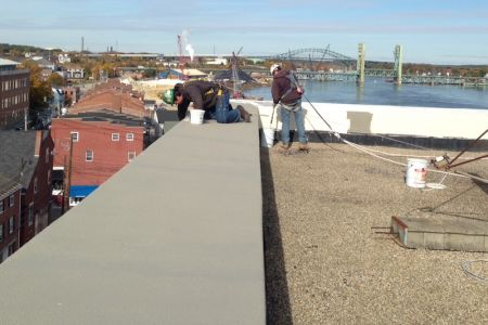 Concrete parapet repair