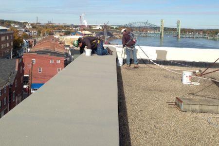 Concrete parapet repair