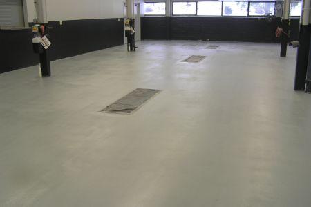 Epoxy floor coating for auto dealership