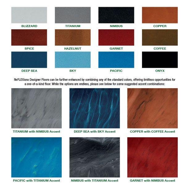 DurAFlex ReFLEXions Color Chart