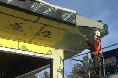 Commercial vapor barrier installation