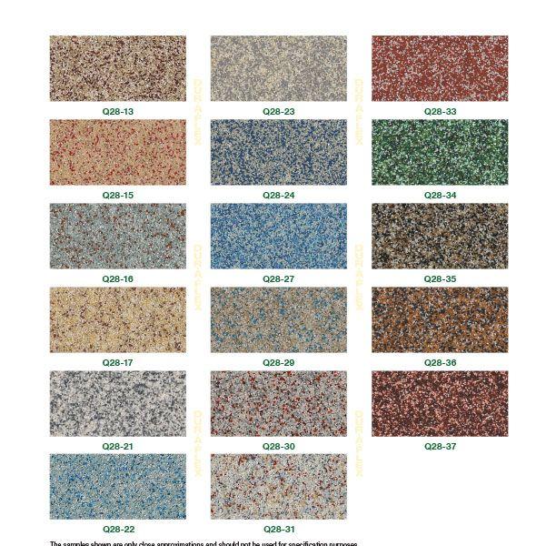 DurAFlex Q-28 Color Chart