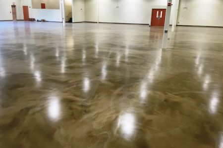 Epoxy floor coating retail commercial