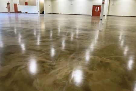 Epoxy floor coating retail commercial