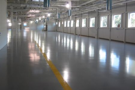 Concrete floor coating manufacturing