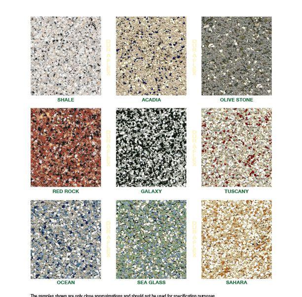 DurAFlex Micro-Chip Color Chart