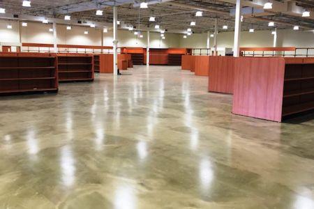 Epoxy floor coating installation using ReFLEXions