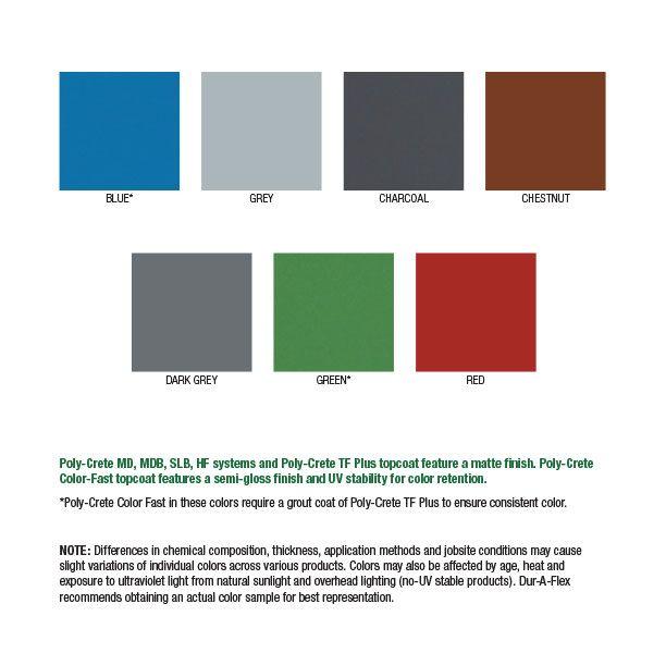 DurAFlex Poly-Crete Color Chart