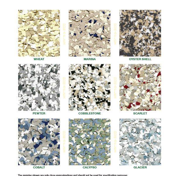 DurAFlex Macro-Chip Color Chart