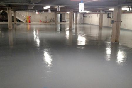 Neogard traffic deck coating installation