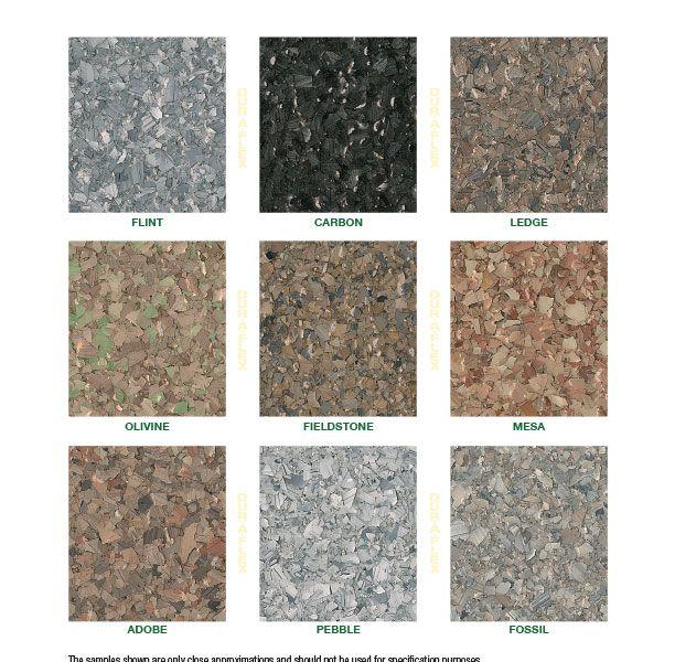 DurAFlex Earthstone Color Chart