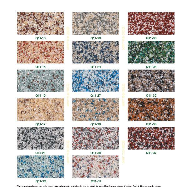 DurAFlex Q-11 Color Chart